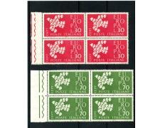 1961 - LOTTO/6396Q- REPUBBLICA - EUROPA 2v. QUARTINE - NUOVI