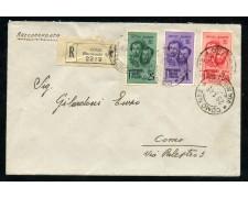 1945 - REPUBBLICA SOCIALE - FRATELLI BANDIERA 3v. - BUSTA RACCOMANDATA - LOTTO/30295
