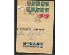 1944 - REBUBBLICA SOCIALE GRANDE BUSTA DA CASTIGLIONE INTELVI PER COMO - LOTTO/30304