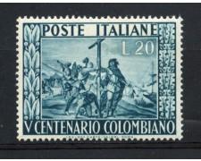 1951 - REPUBBLICA - 5° CENTENARIO DI CRISTOFORO COLOMBO - NUOVO - LOTTO/30319