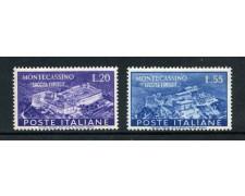 1951 - REPUBBLICA -  ABBAZIA DI MONTECASSINO  2v.- NUOVI - LOTTO/30321