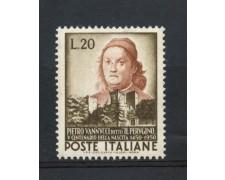1951 - REPUBBLICA - 20 LIRE P. VANNUCCI  DETTO IL PERUGINO - NUOVO - LOTTO/30324