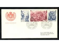 1968 - SOVRANO MILITARE DI MALTA - NATALE 3v.  BUSTA FDC - LOTTO/30393