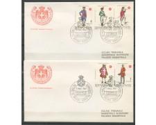 1969 - SOVRANO MILITARE DI MALTA - ANTICHE UNIFORMI - 2 BUSTE FDC - LOTTO/30395