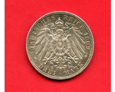 1909 - GERMANIA PRUSSIA - 3 MARCHI ARGENTO WILHELM II° - LOTTO/M34634