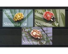 2017 - SLOVENIA - INSETTI. COCCINELLE  3v. - NUOVI - LOTTO/34667