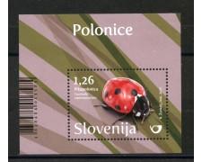 2017 - SLOVENIA - COCCINELLE  FOGLIETTO - NUOVO - LOTTO/34668