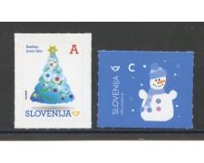 2017 - SLOVENIA - NUOVO ANNO  2v. - NUOVI ADESIVI - LOTTO/34674