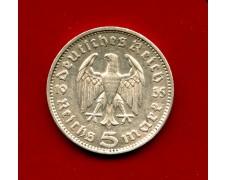 1935 - GERMANIA - 5 MARCHI HINDENBURG ARGENTO - ZECCA J - LOTTO/M30489