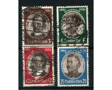 1934 - GERMANIA REICH - CINQUANTENARIO COLONIE TEDESCHE 4v. - USATI - LOTTO/4056