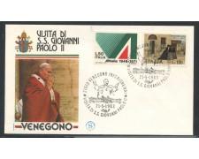 1983 - ITALIA - VENEGONO INF. (VA) - VISITA DI S.S. GIOVANNI PAOLO II° - LOTTO/31177