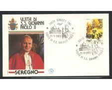 1983 - ITALIA - SEREGNO (MI) - VISITA DI S.S. GIOVANNI PAOLO II° - LOTTO/31180