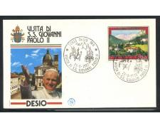 1983 - ITALIA - DESIO (MI) - VISITA DI S.S. GIOVANNI PAOLO II° - LOTTO/31181