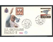1982 - ITALIA - SAN MARINO - VISITA DI S.S. GIOVANNI PAOLO II° - LOTTO/31183