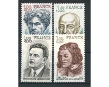 1977 - FRANCIA - PERSONAGGI FAMOSI 4v. - NUOVI - LOTTO/FRA1956CPN