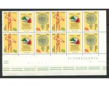 1984 - LBF/617Q - REPUBBLICA - ITALIA 85 TRITTICO VARIETA' - QUARTINA - NUOVI