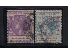 1924 - LOTTO/REGSS29UD - REGNO - CASSA NAZ. ASS. SOCIALI