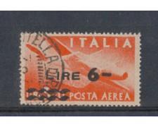 1947 - LOTTO/6032U - REPUBBLICA - POSTA AEREA 6 L. SU 3,20 L.