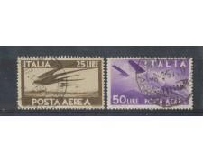 1947 - LOTTO/6041U - REPUBBLICA - POSTA AEREA 25/50 LIRE