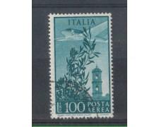 1948 - LOTTO/6043U - REPUBBLICA - POSTA AEREA 100 LIRE FIL. RUOT