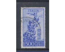 1948 - LOTTO/6045U - REPUBBLICA - POSTA AEREA 500 LIRE FIL. RUOT