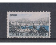 1953 - LOTTO/6222U - REPUBBLICA - 12 L. TURISTICA RAPALLO USATO