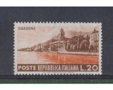 1953 - LOTTO/6223 - REPUBBLICA - 20 L. TURISTICA GARDONE