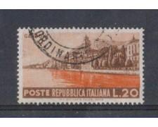 1953 - LOTTO/6223U - REPUBBLICA - 20 L. TURISTICA GARDONE USATO