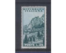 1953 - LOTTO/6224 - REPUBBLICA - 25 L. TURISTICA CORTINA