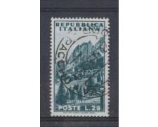 1953 - LOTTO/6224U - REPUBBLICA - 25 L. TURISTICA CORTINA USATO