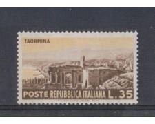 1953 - LOTTO/6225 - REPUBBLICA - 35 L. TURISTICA TAORMINA