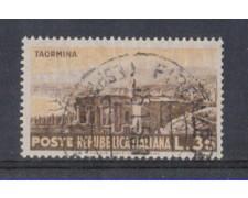 1953 - LOTTO/6225U - REPUBBLICA - 35 L. TURISTICA TAORMINA USATO