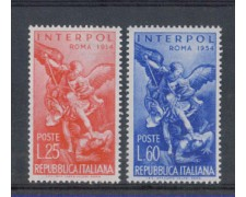 1954 - LOTTO/6241 - REPUBBLICA - INTERPOL 2v.