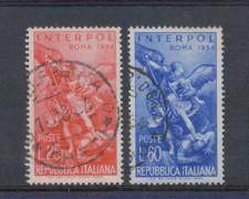 1954 - LOTTO/6241U - REPUBBLICA - INTERPOL 2v. USATI