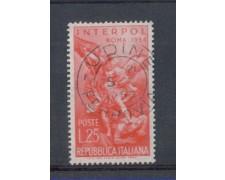 1954 - LOTTO/6242U - REPUBBLICA - 25 L. INTERPOL USATO
