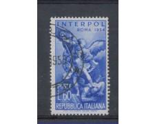 1954 - LOTTO/6243U - REPUBBLICA - 60 L. INTERPOL USATO