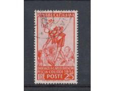 1954 - LOTTO/6244U - REPUBBLICA - 25 L. COLLODI PINOCCHIO USATO