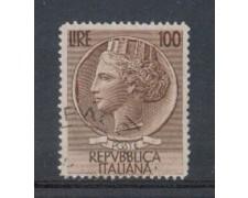 1954 - LOTTO/6245U - REPUBBLICA - 100 L. SIRACUSANA USATO
