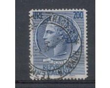 1954 - LOTTO/6246U - REPUBBLICA - 200 L. SIRACUSANA USATO