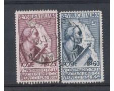 1954 - LOTTO/6247AU - REPUBBLICA - A. VESPUCCI DENT. 13e1/4 X14