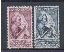 1954 - LOTTO/6247U - REPUBBLICA - AMERIGO VESPUCCI 2v. USATI