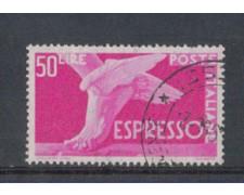 1955 - LOTTO/6296U - REPUBBLICA - 50 L. ESPRESSO USATO