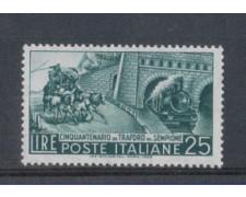 1956 - LOTTO/6299 - REPUBBLICA - 25 L. TRAFORO SEMPIONE