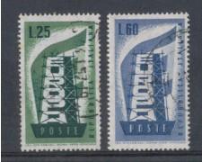 1956 - LOTTO/6306U - REPUBBLICA - EUROPA 2v. USATI