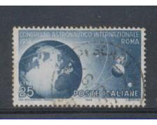 1956 - LOTTO/6307U - REPUBBLICA - 25 L. ASTRONAUTICO USATO