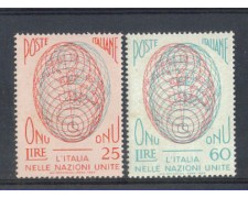1956 - LOTTO/6308 - REPUBBLICA - AMMISSIONE ONU 2v.