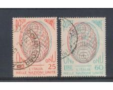 1956 - LOTTO/6308U - REPUBBLICA - AMMISSIONE ONU 2v. USATI