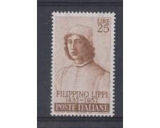 1957 - LOTTO/6321 - REPUBBLICA - 25 L. FILIPPINO LIPPI