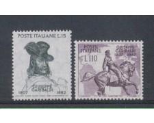 1957 - LOTTO/6323 - REPUBBLICA - GARIBALDI 2v.