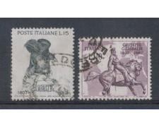 1957 - LOTTO/6323U - REPUBBLICA - GARIBALDI 2v. USATI